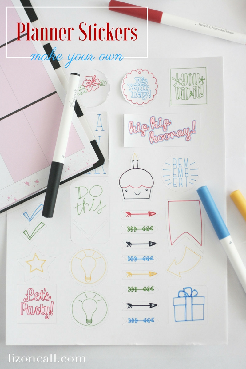 make your own planner stickers with cricut liz on call. Black Bedroom Furniture Sets. Home Design Ideas