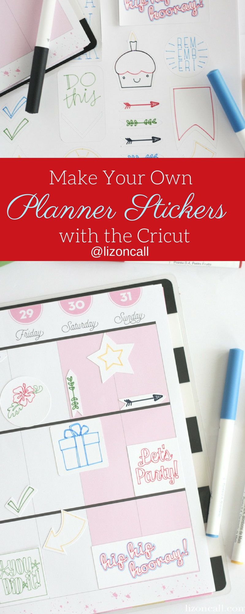 Organize your planner this year and make your own planner stickers with Cricut Maker and the pen tool.