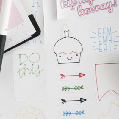 Make Your Own Planner Stickers with Cricut
