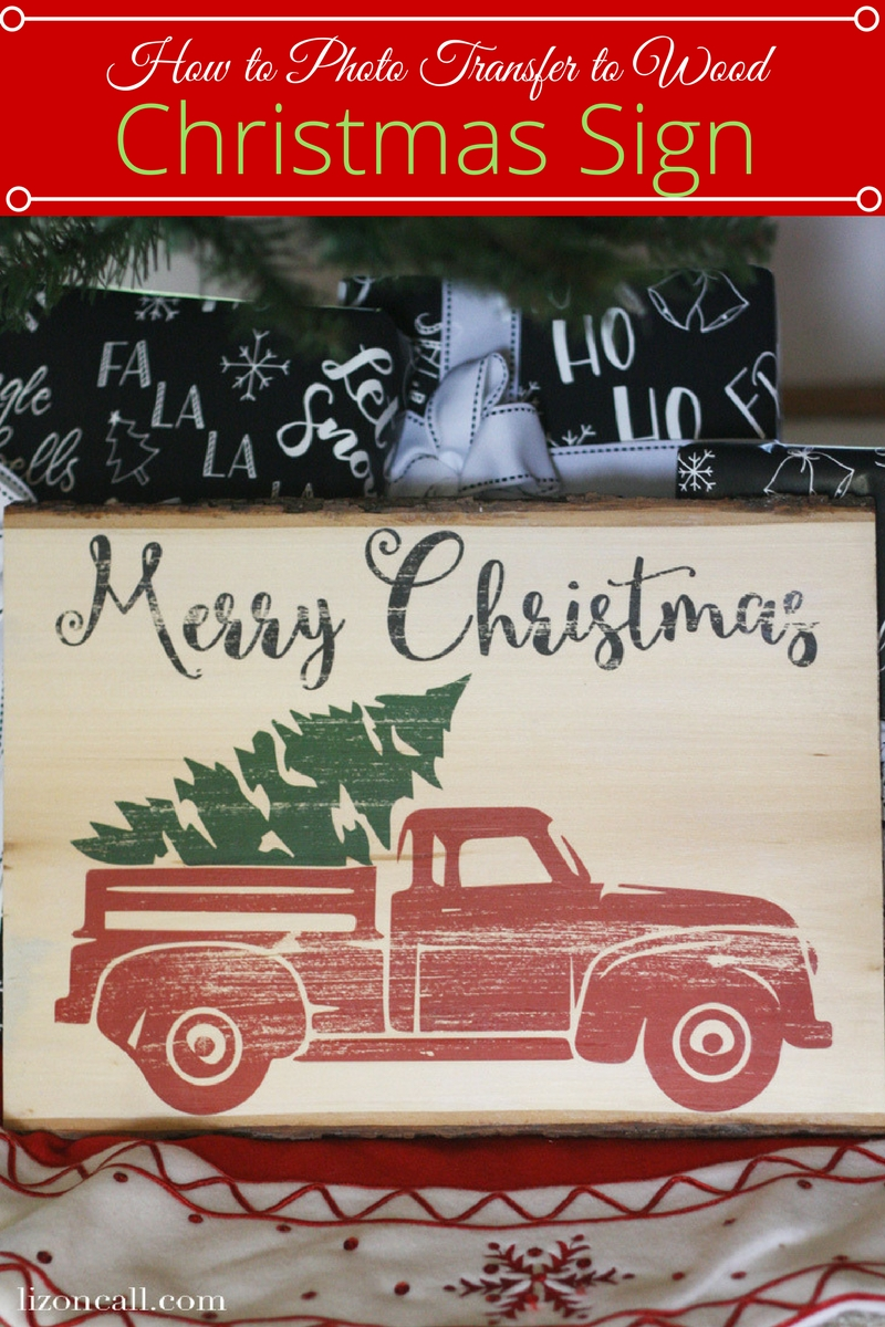 Photo Transfer Christmas Sign