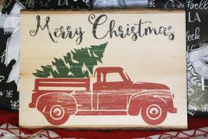 Photo Transfer Christmas Sign