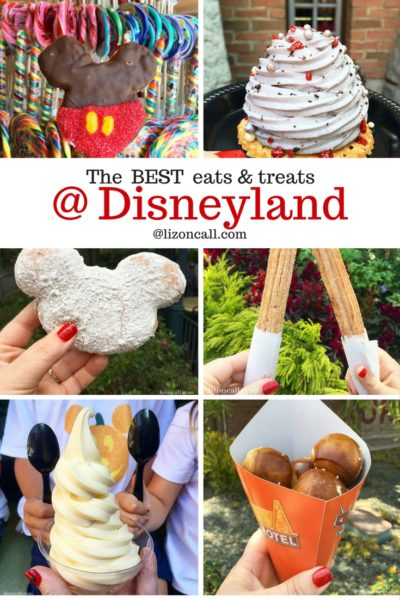 Make sure to add these Disney snacks to your list for your next trip.  You can find these best Disneyland treats all year round at both Disney parks in California.  #disneylandtreats #disneylandsnacks #bestdisneytreats