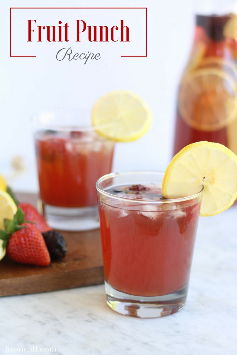 Keep this fruit punch recipe on hand, in case you are in need of an easy party punch for a special celebration. Or just an everyday occasion! #fruitpunchrecipe #partypunch #nonalcoholic