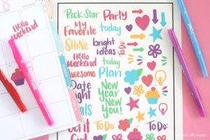 Hand Lettered Planner Stickers   Print & Cut