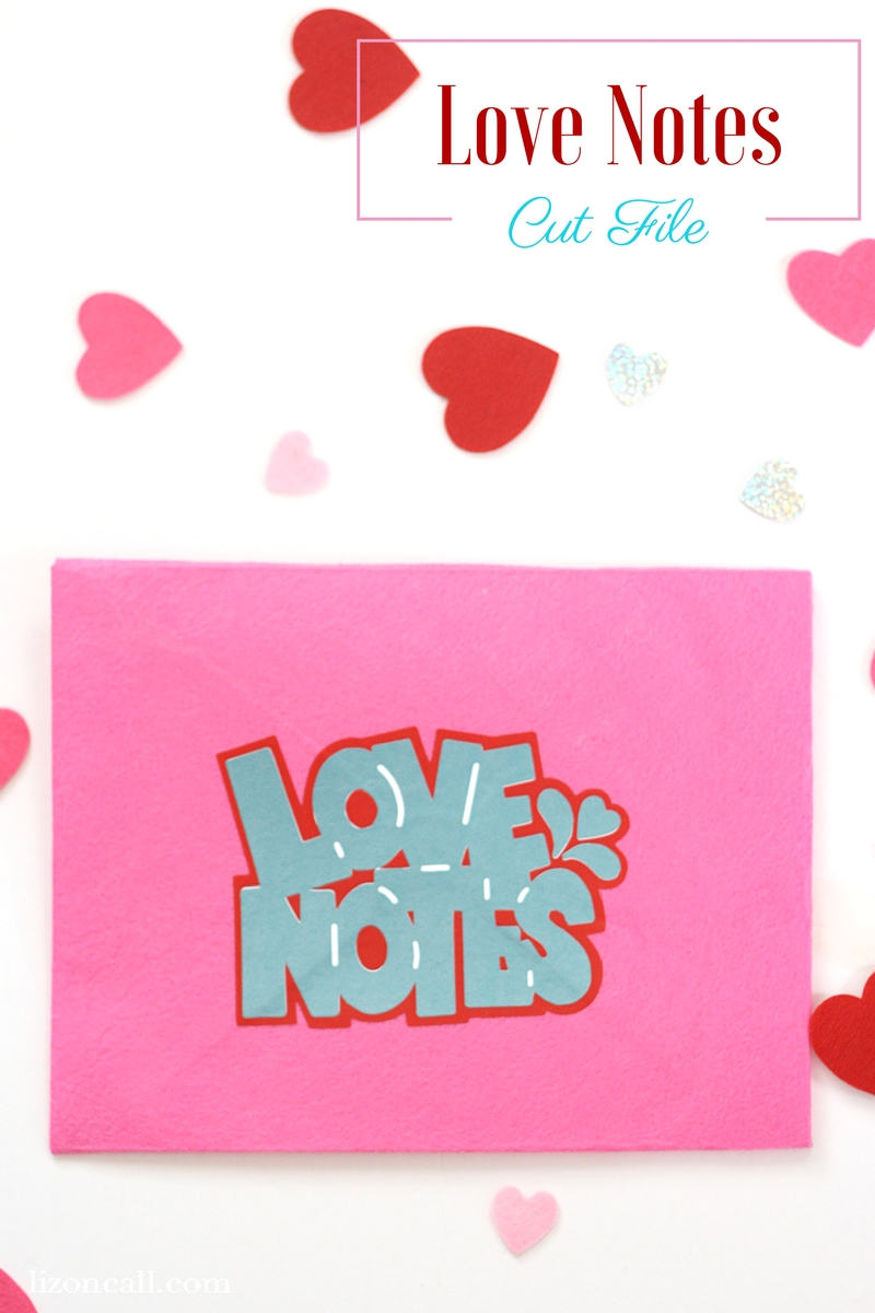 Add this fun love notes free svg cut file to boxes and bags for your friends and family to know where to stuff those Valentine's notes. #svg #cutfile #valentinesday