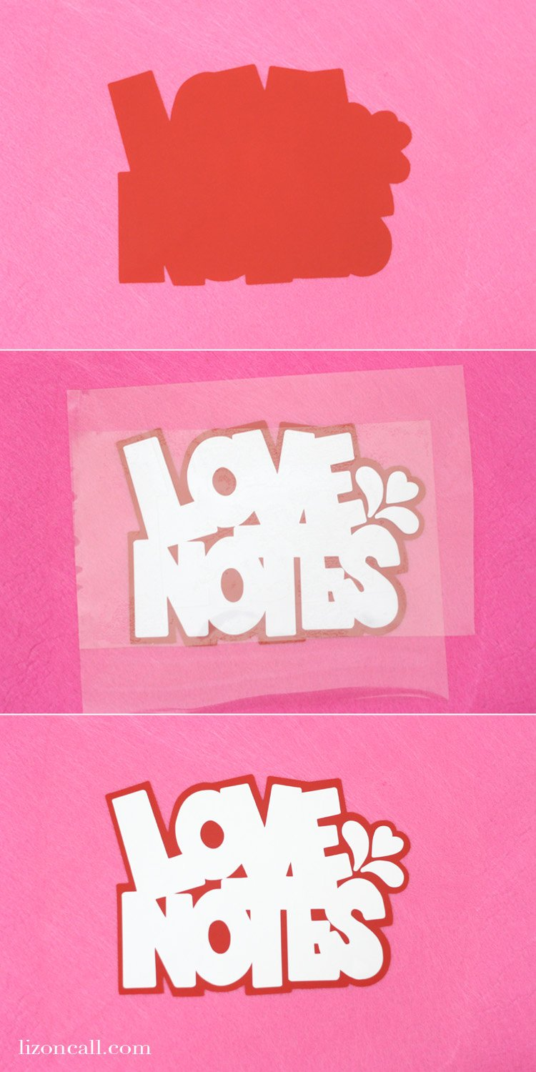 Add this fun love notes free svg cut file to boxes and bags for your friends and family to know where to stuff those Valentine's notes.