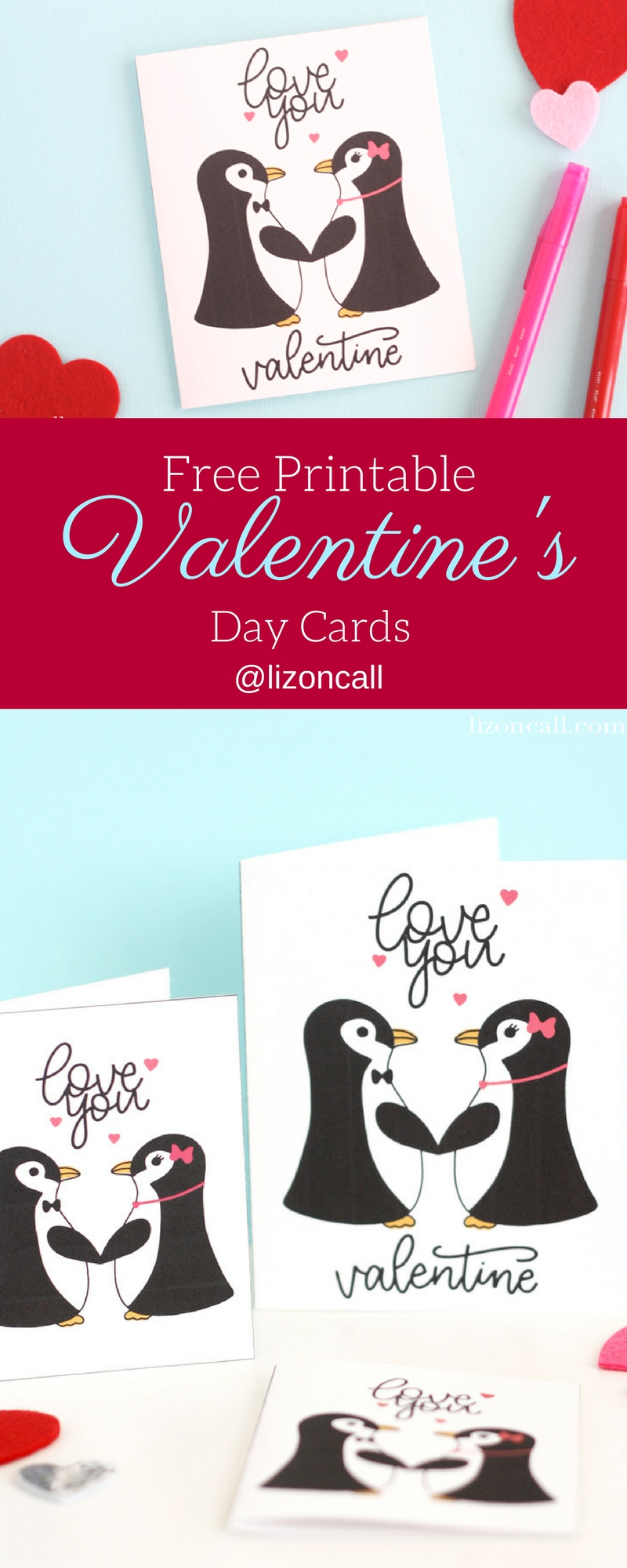 This year print out this free printable Valentine's Day card for gifting to the special someone in your life. #valentinesday #freeprintable #valentinesdaycard #valentinescard