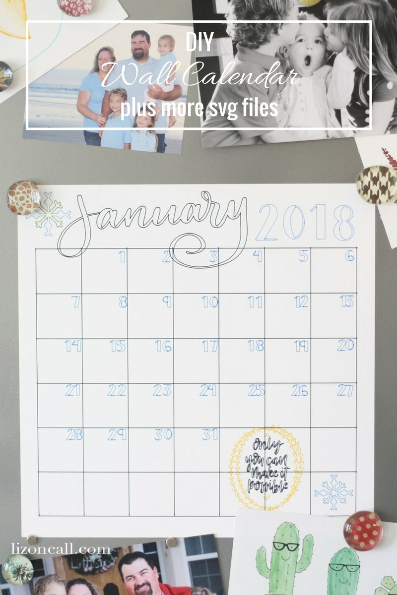 Diy Yearly Wall Calendar : Diy wall calendar liz on call
