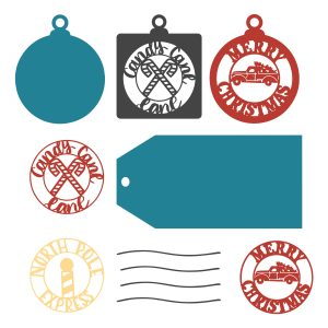 Christmas gift tag svg cut files available at lizoncall.com