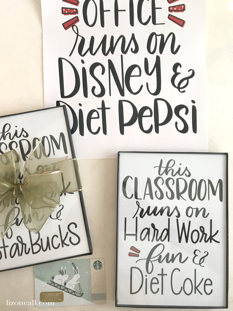 Give teachers what they want this year and send them a gift card.  Make your simple teacher appreciation gift idea into something extra special with this cute free printable. #teacherappreciation