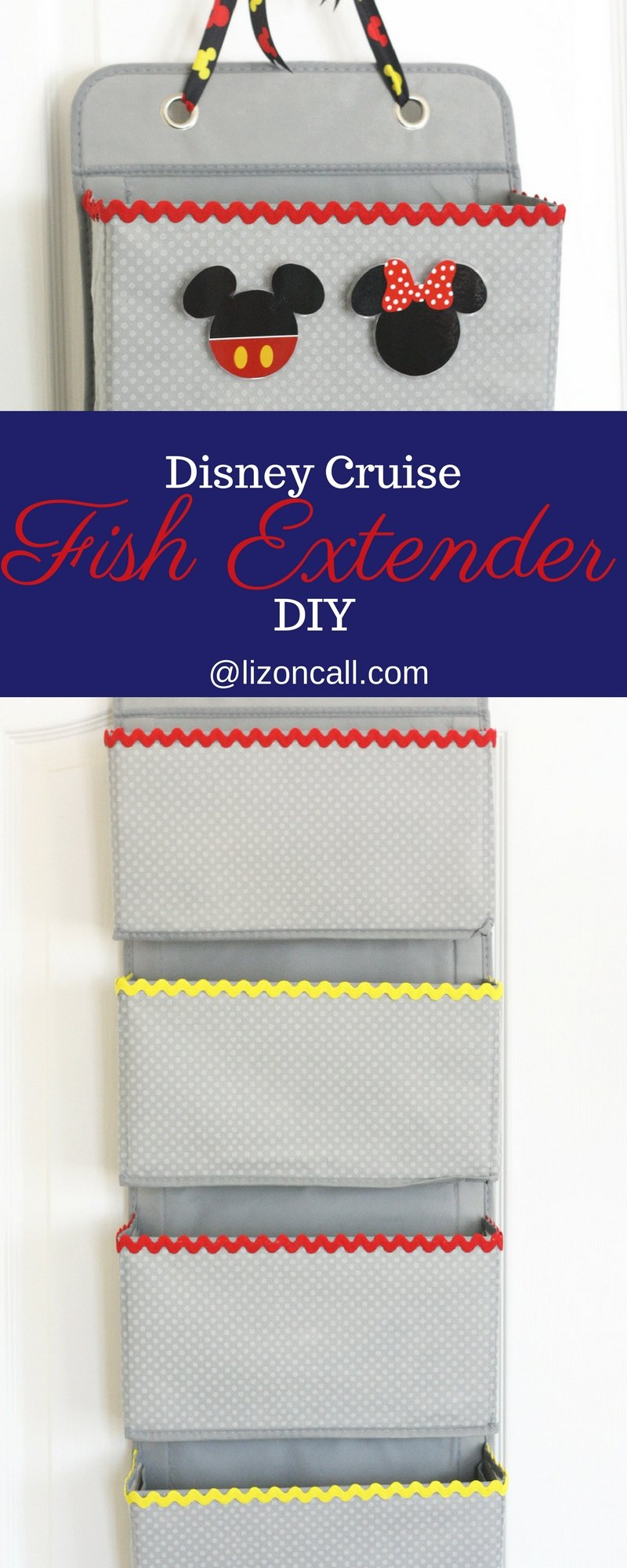 Headed on a Disney Cruise soon?  Make this no sew Disney Cruise fish extender DIY to take part in some added extra magic while on board.  Kids and adults love participating in the Disney Cruise Fish Extender program. #fishextenderdiy #disneycruise