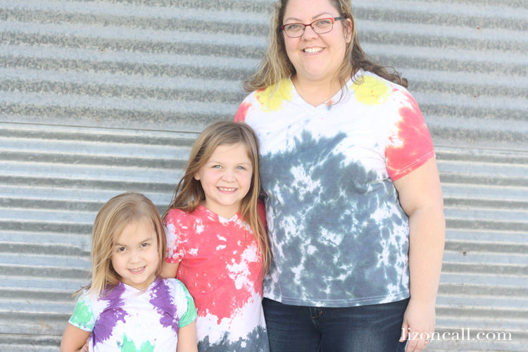 Tie dye and our favorite Marvel characters inspired these DIY Avengers shirts we made for the Avengers Infinity War movie, celebrating 10 years of Marvel movie magic.