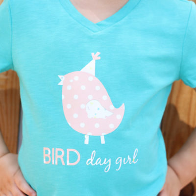 DIY Birthday Shirt with Cricut Patterned Iron On