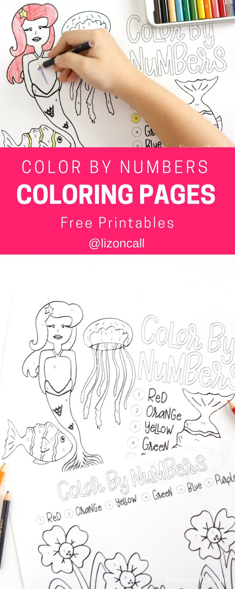 Are the kids bored this summer? These color by number printables are a perfect activity to keep the kids (and maybe mom) entertained during those long summer days.
