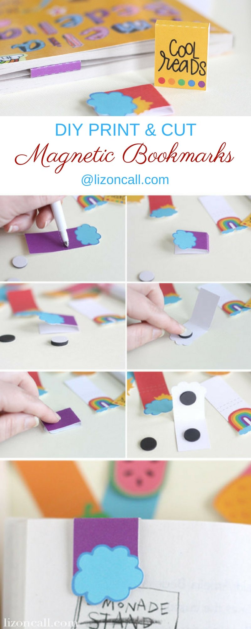 Have any book lovers in your home? Get them excited about reading all the books with these print and cut DIY magnetic bookmarks.