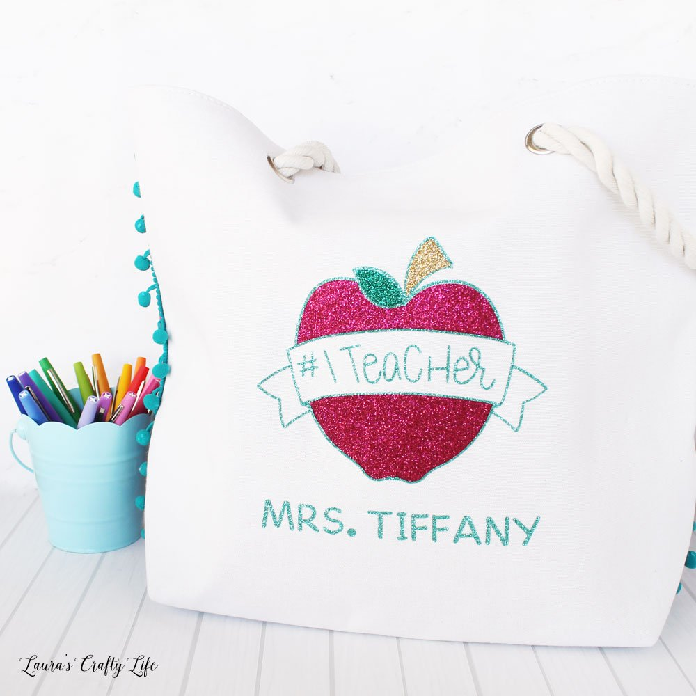 Need a quick and easy teacher appreciation gift this year? This free teacher appreciation SVG cut file makes gift giving to your favorite teachers super easy! at Laura's Crafty Life