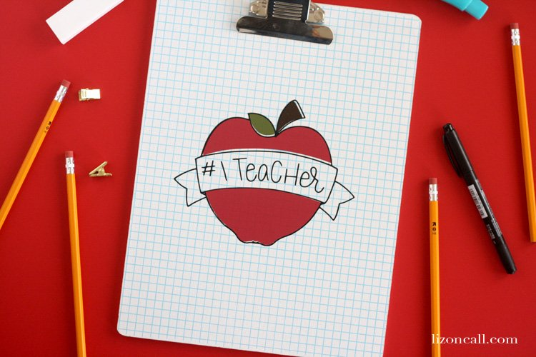 Need a quick and easy teacher appreciation gift this year? This free teacher appreciation SVG cut file makes gift giving to your favorite teachers super easy!