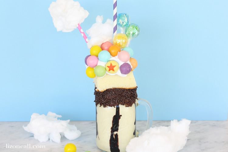 Celebrate Disney and all things Pixar Fest with this Up Inspired Freakshake. Disney Freakshake Recipes