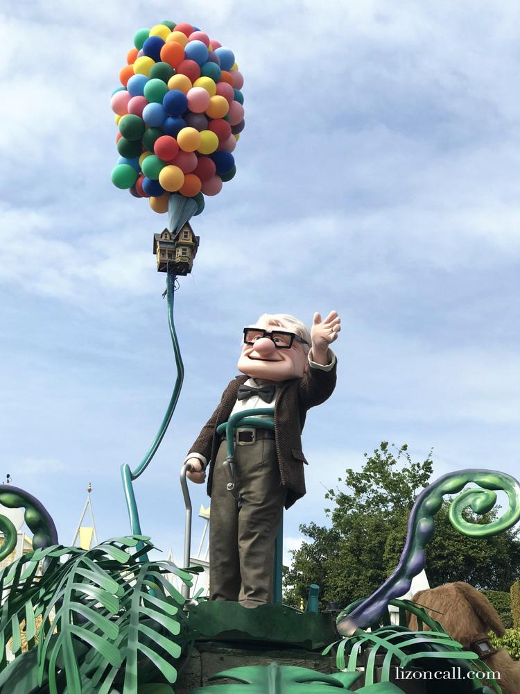 Pixar Play Parade Up Float for Pixar Fest.