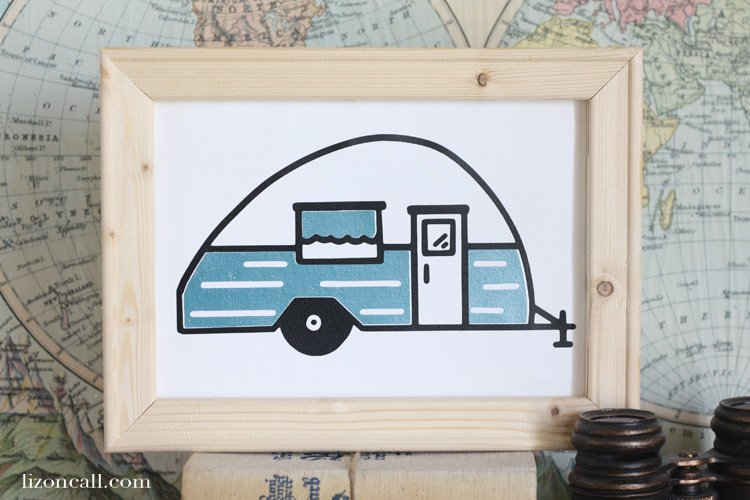 Summer time for us means trips up to the mountains to do some camping. I'm sharing our love of the outdoors with this fun camper life reverse canvas tutorial. #reversecanvas
