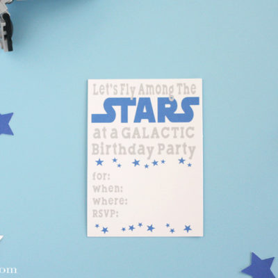 Solo Star Wars Birthday Party Invitations