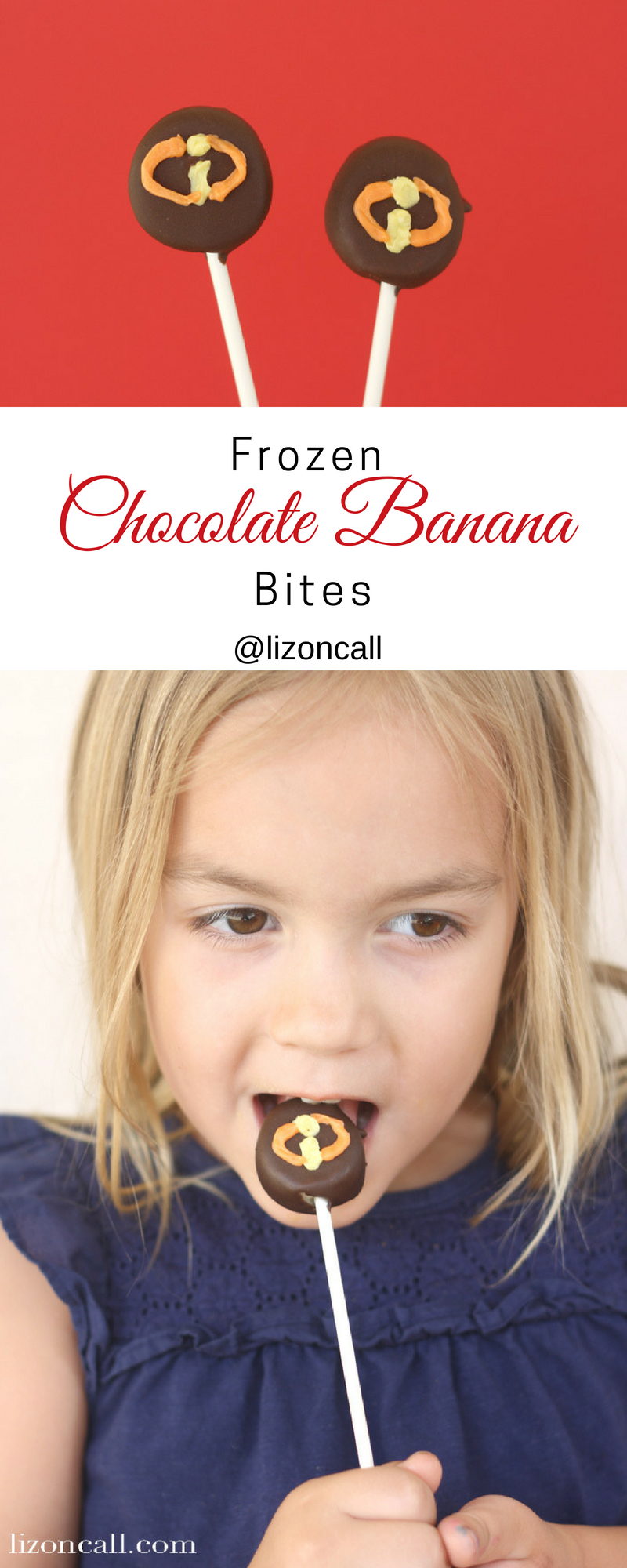 These frozen chocolate covered banana bites are a fun treat to make with the kids when you can't make it to the parks.