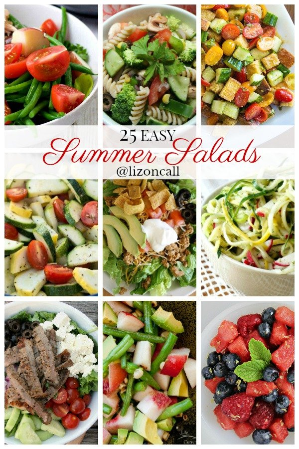 There are so many delicious summer salad recipes that are not only easy but a great way to beat the summer heat when making dinner. Easy summer pasta salads, green salads and summer salads for picnics.