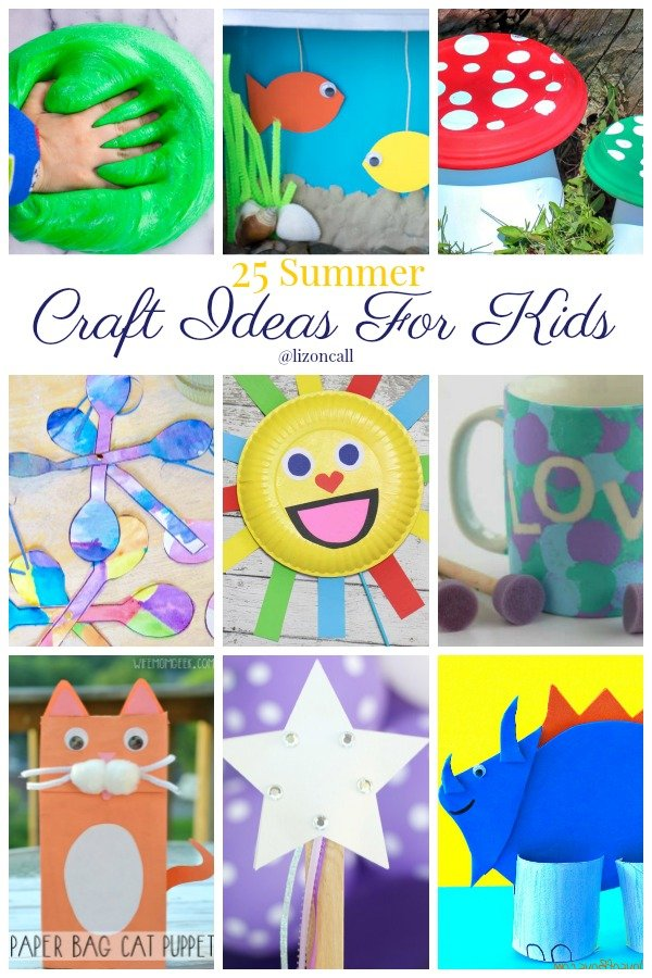 It may take a little time on my part to prepare, but these summer craft ideas for kids are sure to cure those summer boredom blues. Easy kids crafts for summer.