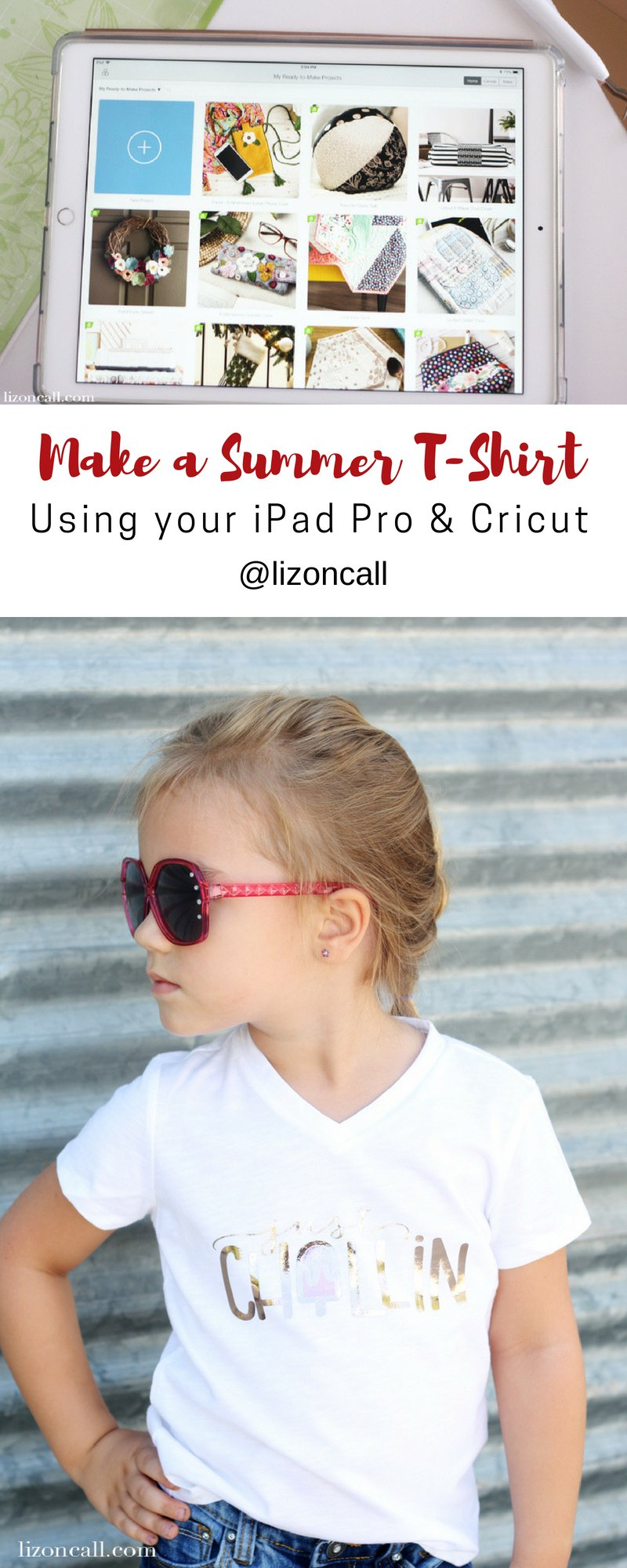 Create a fun DIY shirt without ever having to turn on your computer. Using the right apps on an Apple iPad Pro, you can make a DIY project using just your iPad Pro and Cricut cutting machine. #cricutmade #DIYshirt #ipadpro #procreateapp