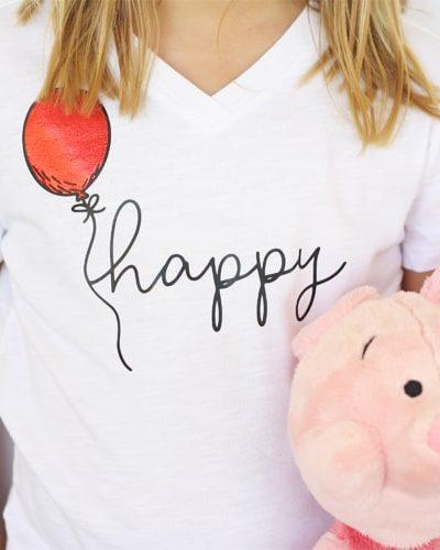 DIY Happy Shirt for Christopher Robin