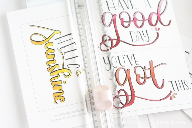 We all have days that are tough, where we could use a little cheering up. Download these Free Printable Watercolor Postcards to help brighten your day or to send to a friend who might need their day brightened too.