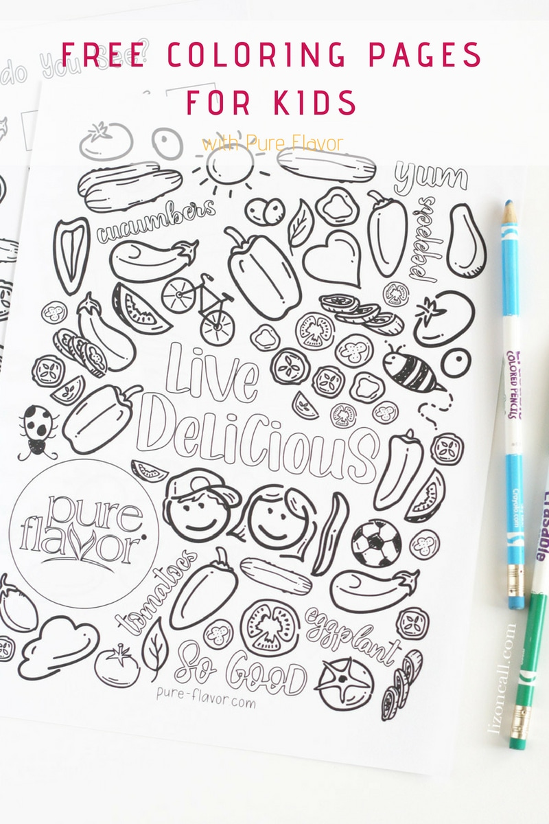 Whether you're trying to keep the kids entertained, or trying to help them make healthier choices, this Pure Flavor free coloring page for kids is a fun distraction.