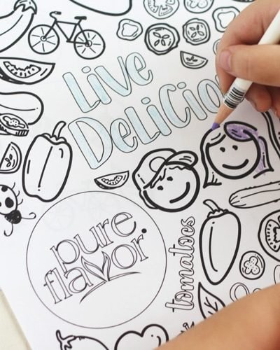 Pure Flavor Free Coloring Page For Kids