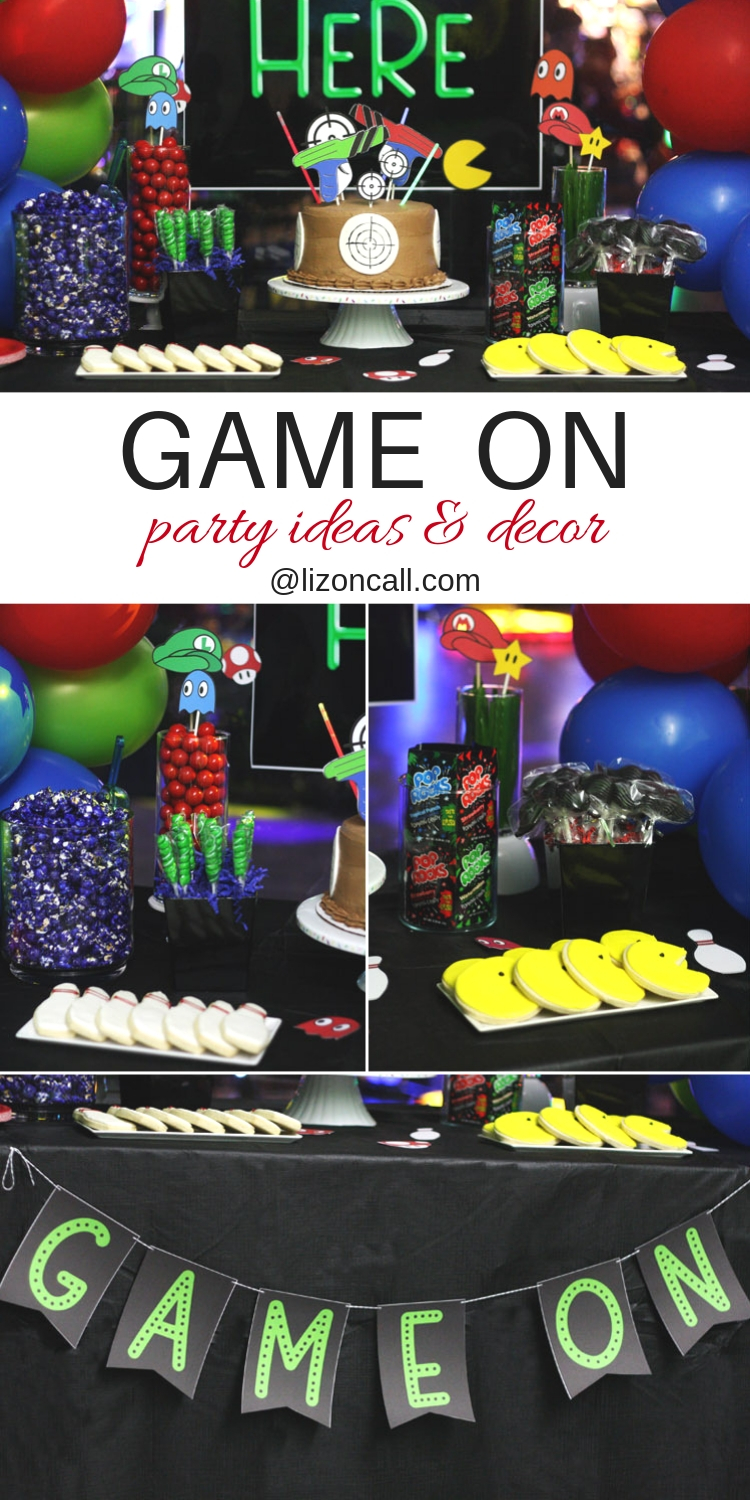 Game On Party Ideas and Decor