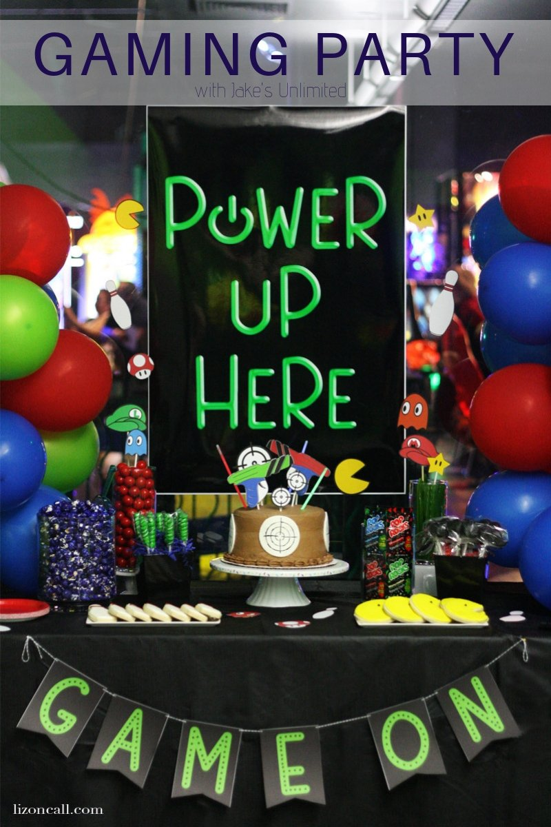 Game On Birthday Party Dessert Table with Free Printables