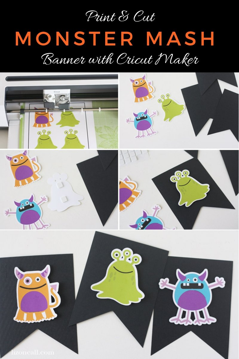 Creating a bright and colorful table and backdrop for a party is easy when you use your Cricut Maker. Create a fun and festive Monster Mash Halloween Party the whole family will love. #cricutmade #halloweenparty