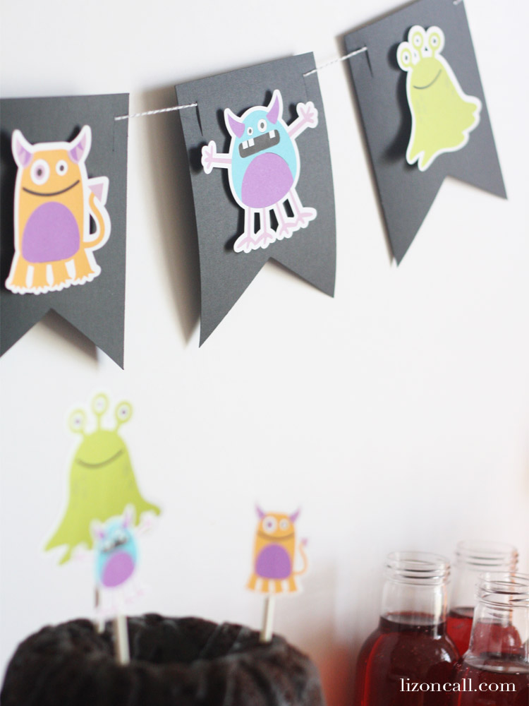 Creating a bright and colorful table and backdrop for a party is easy when you use your Cricut Maker. Create a fun and festive Monster Mash Halloween Party the whole family will love. #Cricutmade #cricut #halloweenparty #monstermash #ad