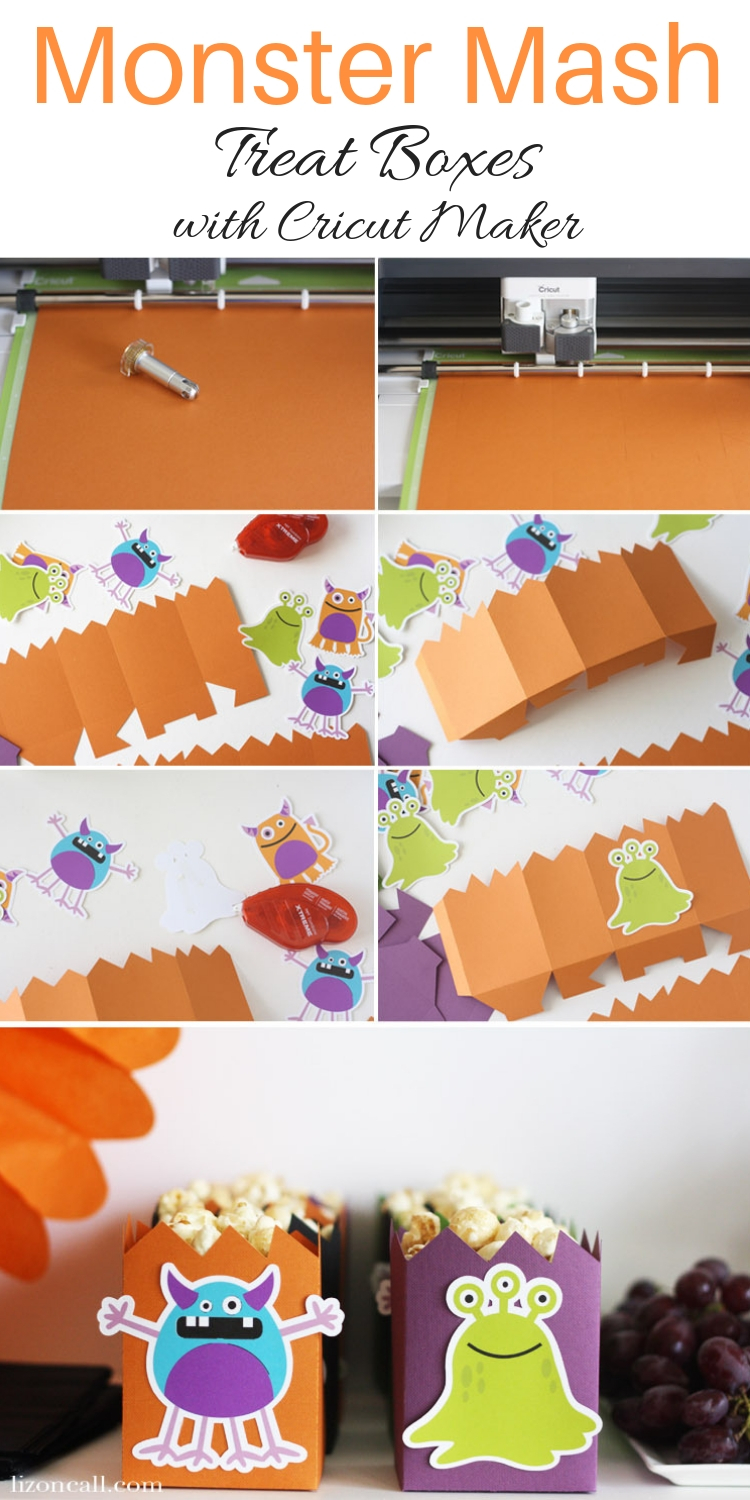Creating a bright and colorful table and backdrop for a party is easy when you use your Cricut Maker. Create a fun and festive Monster Mash Halloween Party the whole family will love.