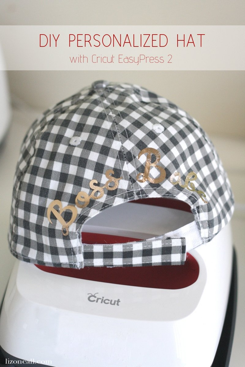 The possibilities with this fun DIY are endless.  Use the Cricut EasyPress 2 along with the curve tool in Cricut Design Space to make a DIY Customized Hat.