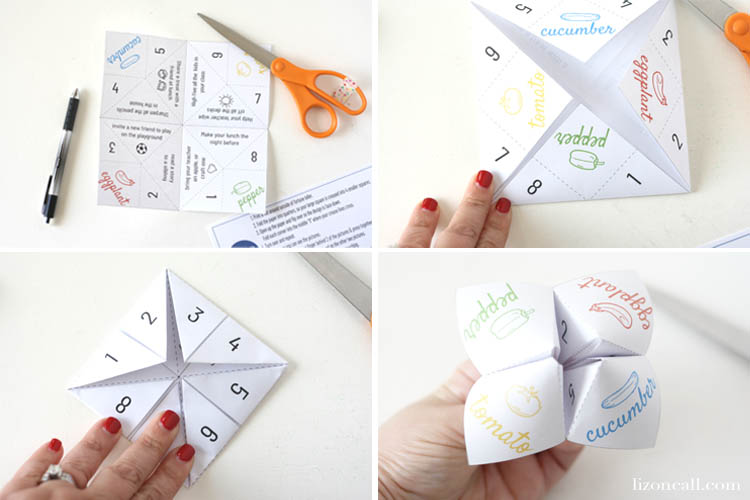 The kids will love this Back To School Fortune Teller. There are lots of fun ideas on how to make back to school fun and not so scary. #pureflavor #backtoschool #fortuneteller