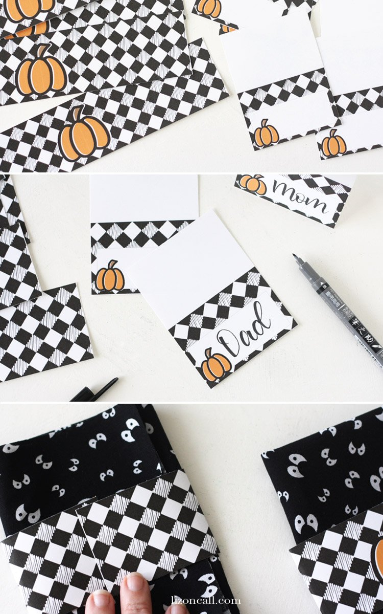 Grab the free printables and create a spooky vibe at your Halloween party with this Easy Halloween Tablescape.