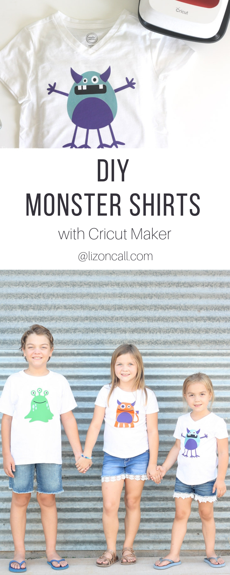 Monsters don't have to be scary. These DIY Monster Shirts feature cute monsters in bright colors and smiling faces that are super cute and not spooky.