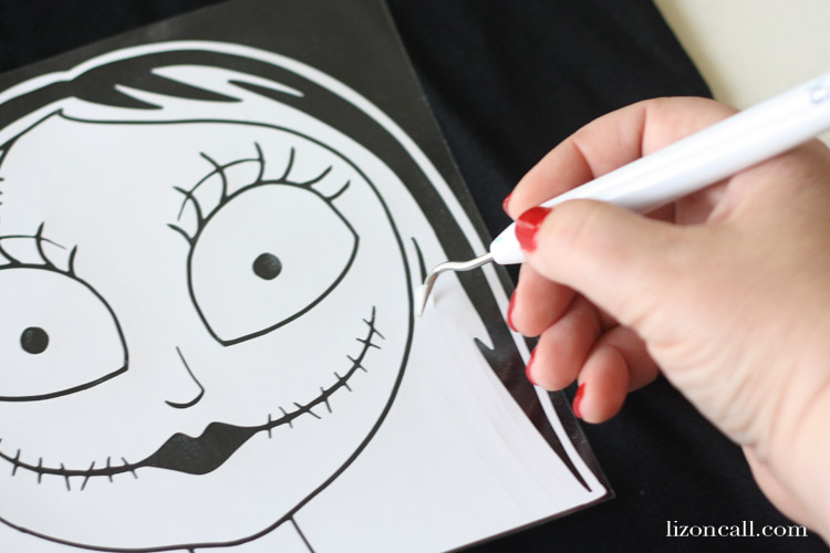 Sally from Nightmare Before Christmas T-shirt design, cut file