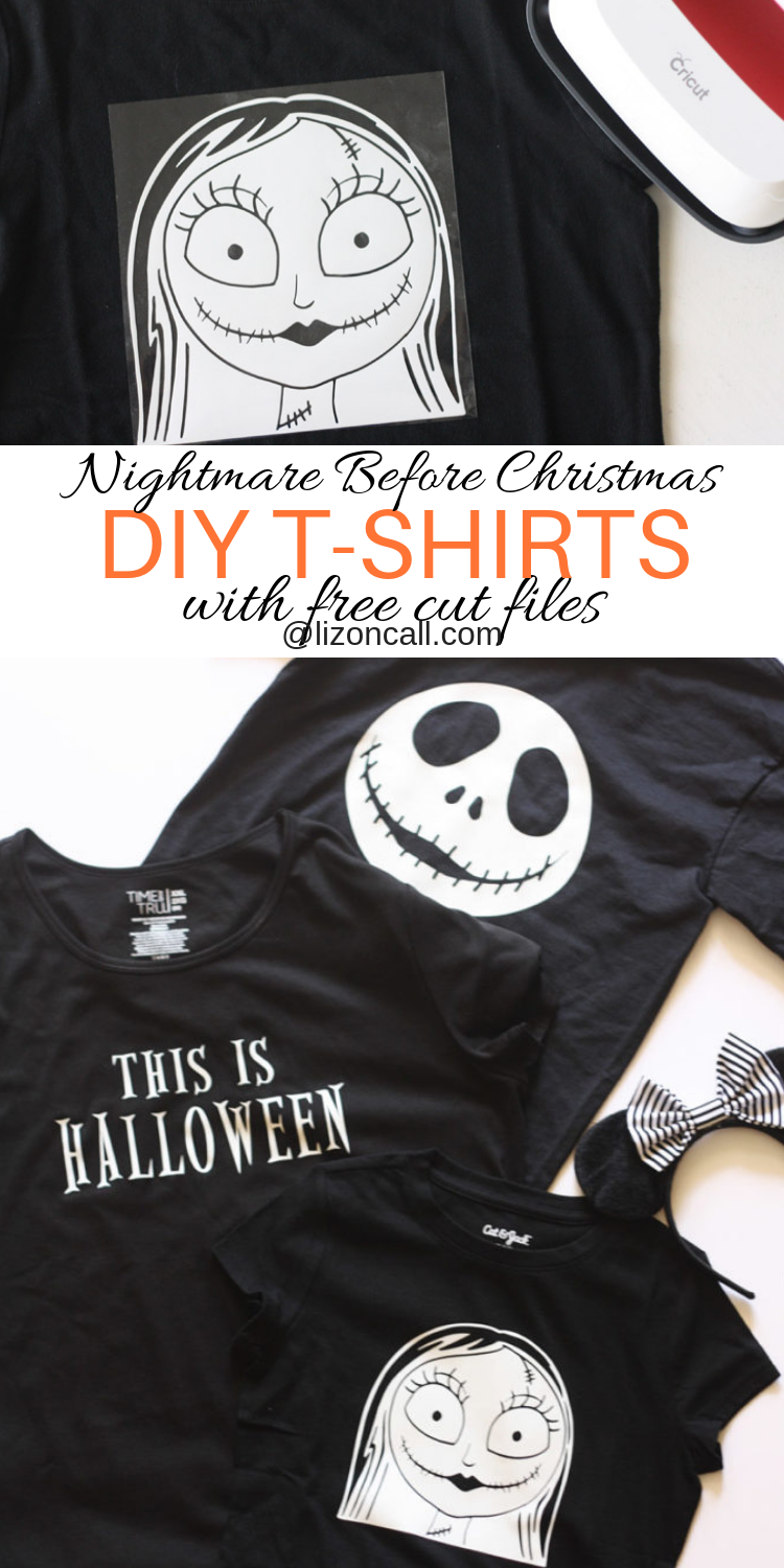 If your family loves Nightmare Before Christmas, this project is for you! These DIY Nightmare Before Christmas Shirts glow in the dark, are easy to make and fun for the whole family.