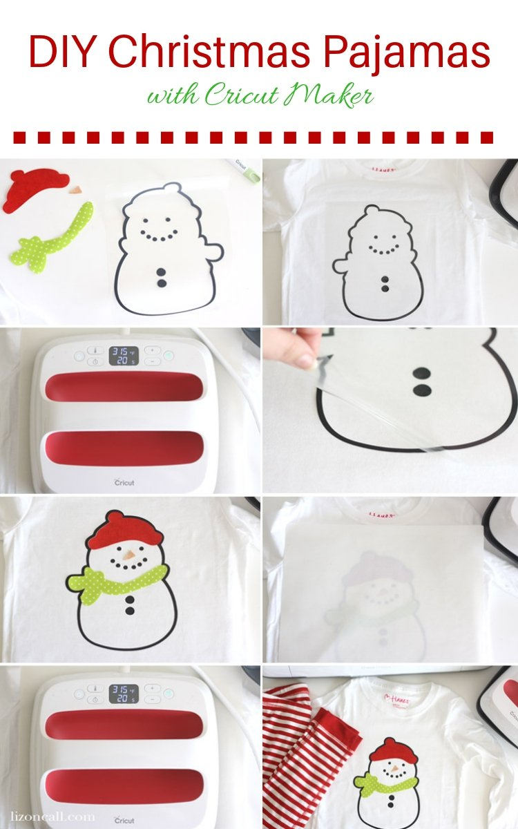 Create some DIY Christmas Pajamas for the whole family this year, using the Cricut Maker. #ad #cricutmade #handmadeholiday