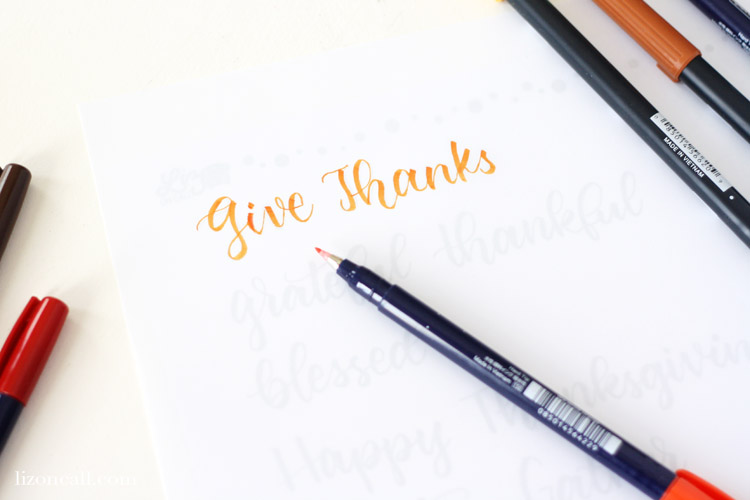 Add a hand lettered touch to your holiday table with these Thanksgiving Hand Lettering Practice Sheets.  Thanksgiving phrases and designs to fit any holiday tablescape or decor.