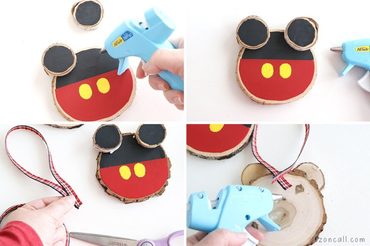 Decorate your Christmas tree to feel like you're at the Disney parks with this Rustic DIY Mickey Mouse Ornament. DIY Mickey Christmas Ornaments.