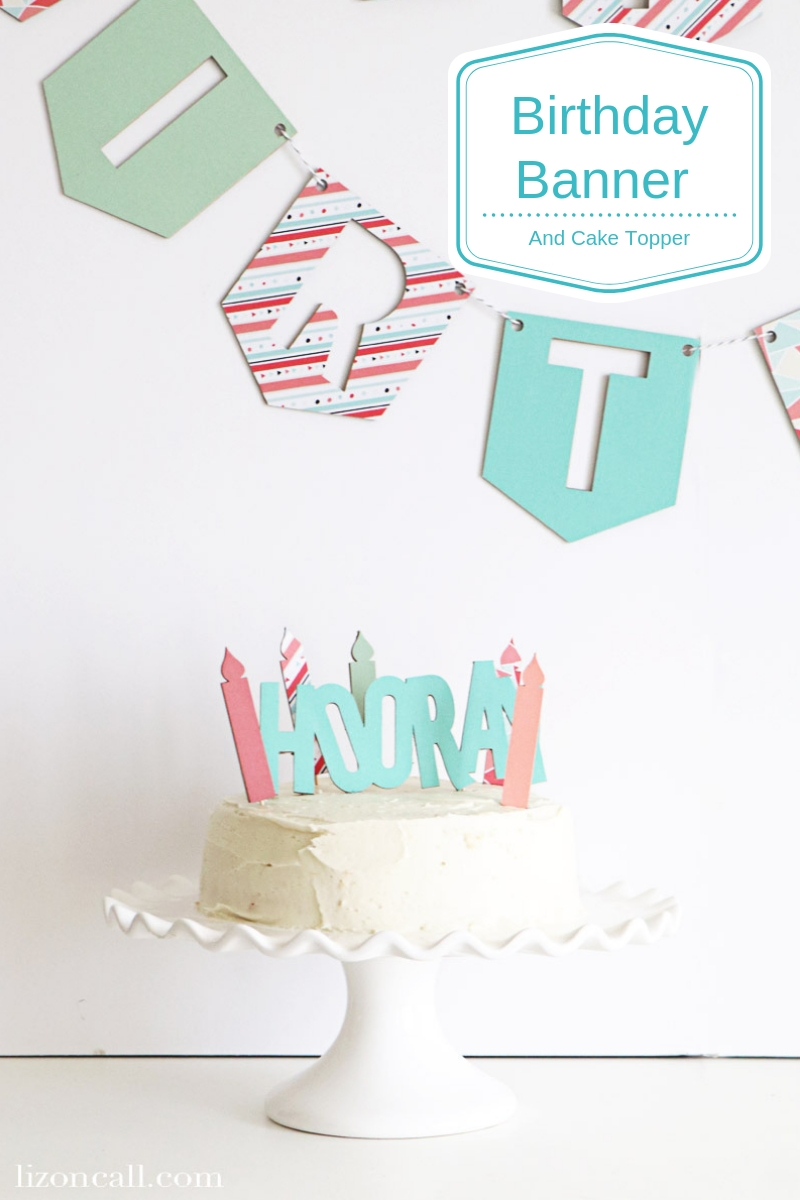 Create a custom DIY Birthday Banner using chipboard and paper with the Cricut Maker. This birthday banner is durable enough that it can be used again and again. #cricutmade #DIYBirthday #CricutBirthday