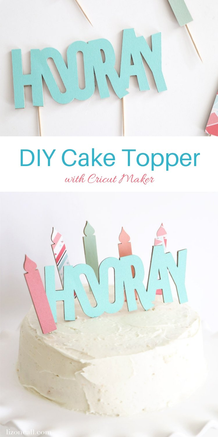 Create a custom DIY Birthday Banner and cake topper using chipboard and paper with the Cricut Maker. This birthday banner is durable enough that it can be used again and again.