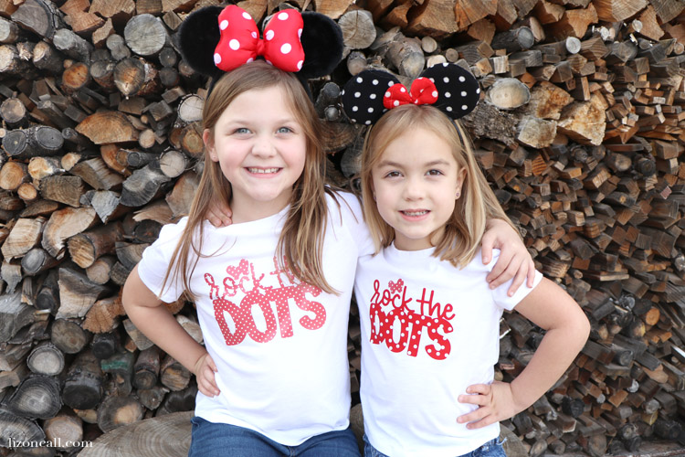 Show your love of polka dots and the original polka dot princess, with this Disney inspired DIY Minnie Rock The Dots Shirt. Get the free cut file.